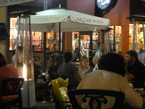 Raglan Road patio, Downtown Disney
