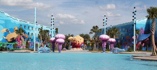 Art of Animation Resort pool area - WDW