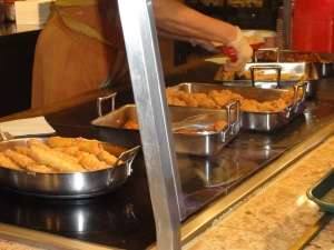 Fried lunch options at Disney's Port Orleans Riverside