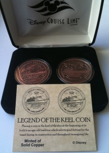 Disney Cruse Line Dream and Fantasy Keel Coins