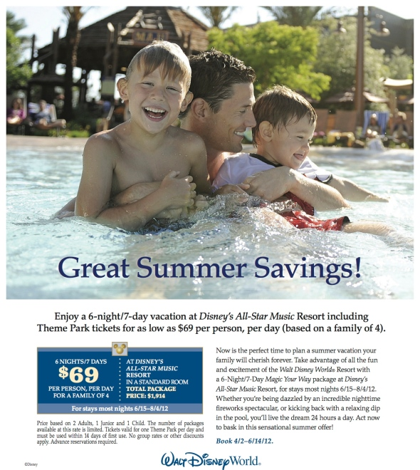 WDW Summer Savings Offer