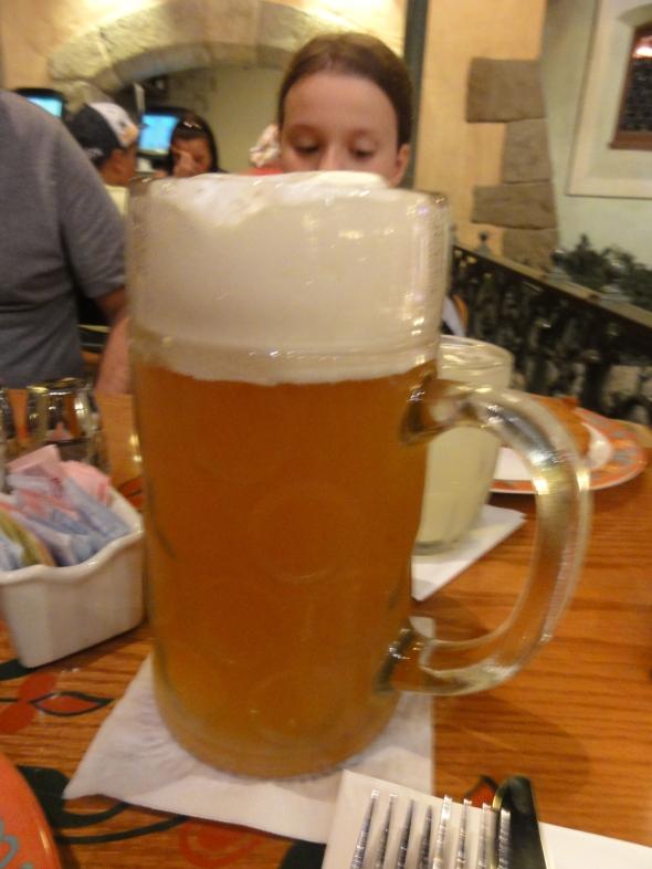 Beer from Biergarten in German Pavilion Epcot