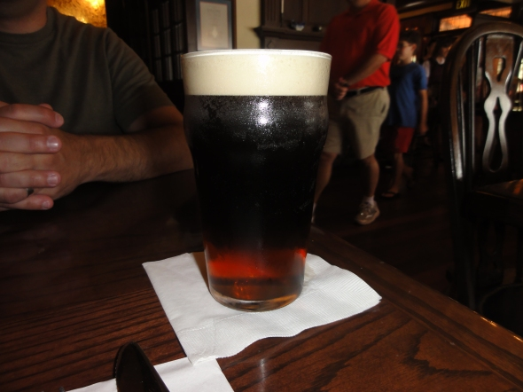 Black and Tan at Rose & Crown Pub