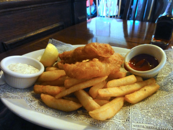 Fish and Chips, Rose & Crown, UK Pavilion EPCOT