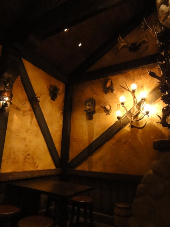 Antlers and Lighting at Gaston's Tavern