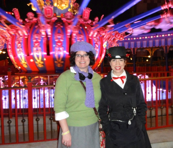 Eglantine Price and Mary Poppins at Storybook Circus WDW