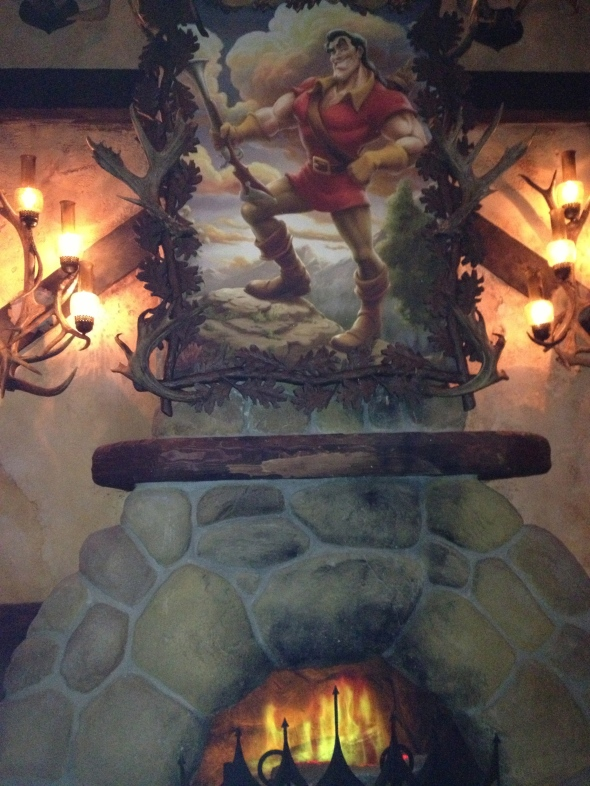 Fireplace in Gaston's Tavern