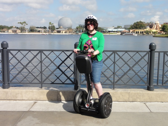 MouseChow on the Segway Tour in Epcot