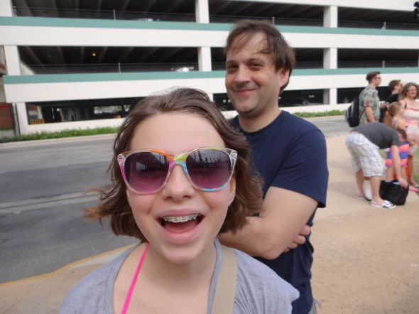 Waiting outside the Disney terminal