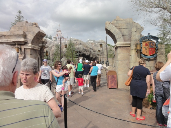 Line for Be Our Guest