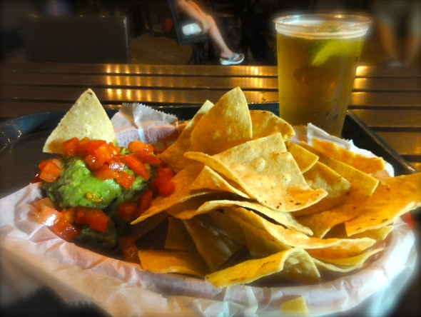 Chips and guacamole at Cantina de San Angel