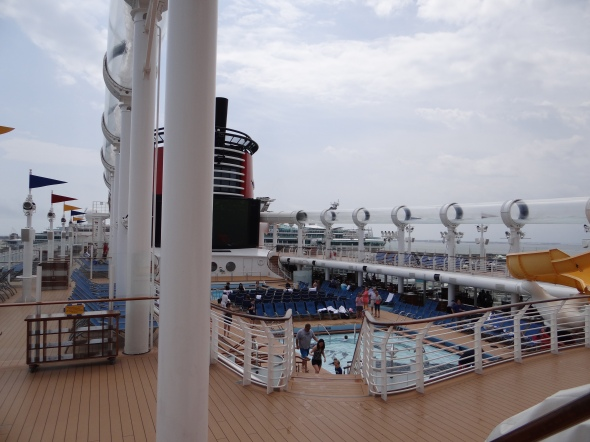 View of Deck 11 from Deck 12 Disney Dream