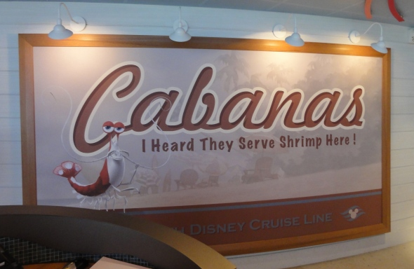 The other side of Cabanas on the Disney Dream