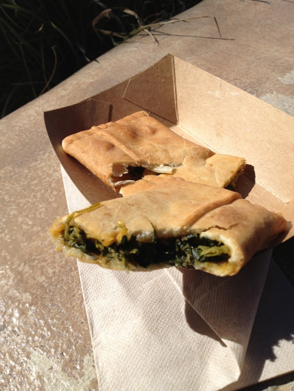 Spinach and Paneer Pocket at Africa booth