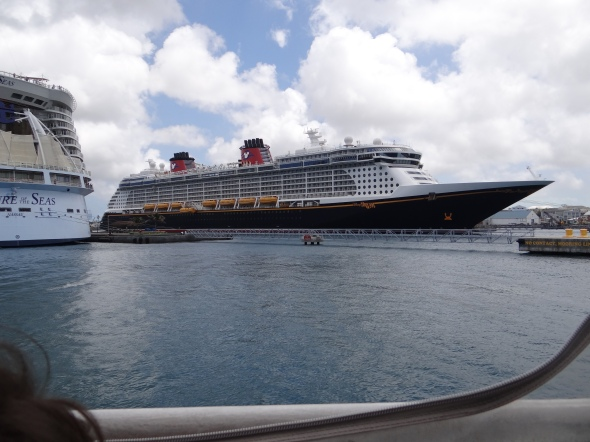 Disney Dream in port at Nassau Bahamas