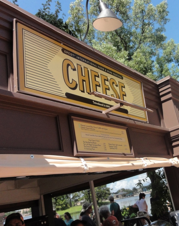 Cheese booth Epcot Food and Wine Festival
