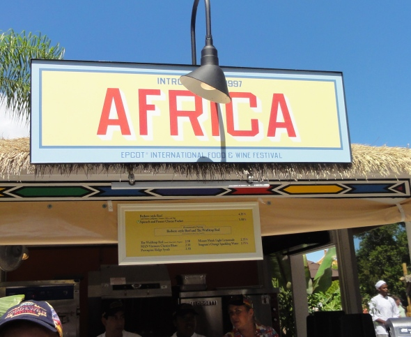 Africa booth Epcot Food and Wine Festival