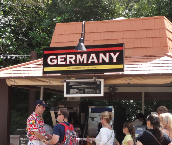 Germany booth Epcot Food and Wine Festival