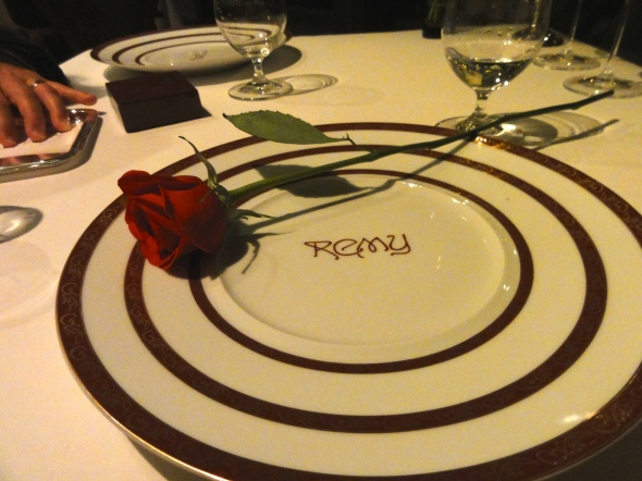 A rose to end the meal at Remy