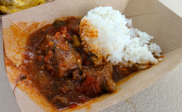 Braised Beef at the Puerto Rico booth