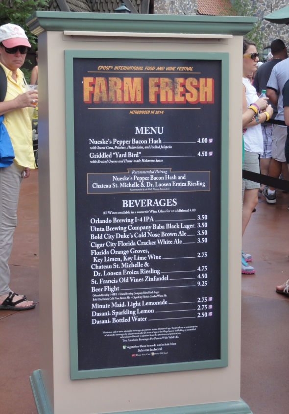 Farm Fresh Booth at Epcot Food and Wine Fest