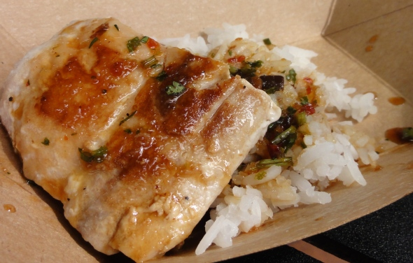 "Mahi Mahi with Jasmine Rice and ""Singa"" Sauce"
