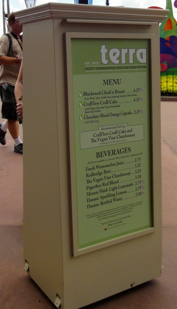 Terra Booth Menu Epcot Food and Wine 2014